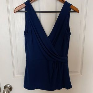 H&M Blue Wrapped Tank Top Blouse